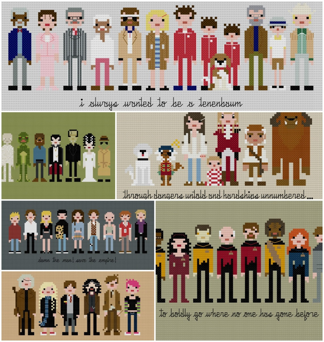 Pixel People Collage