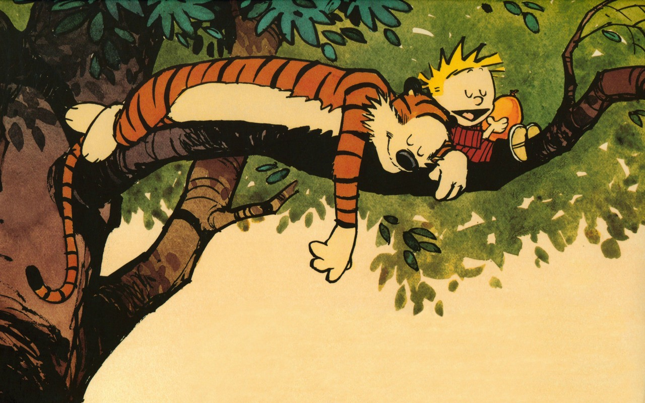 Calvin and Hobbes Wallpaper Collection – Powdered Wig Couture