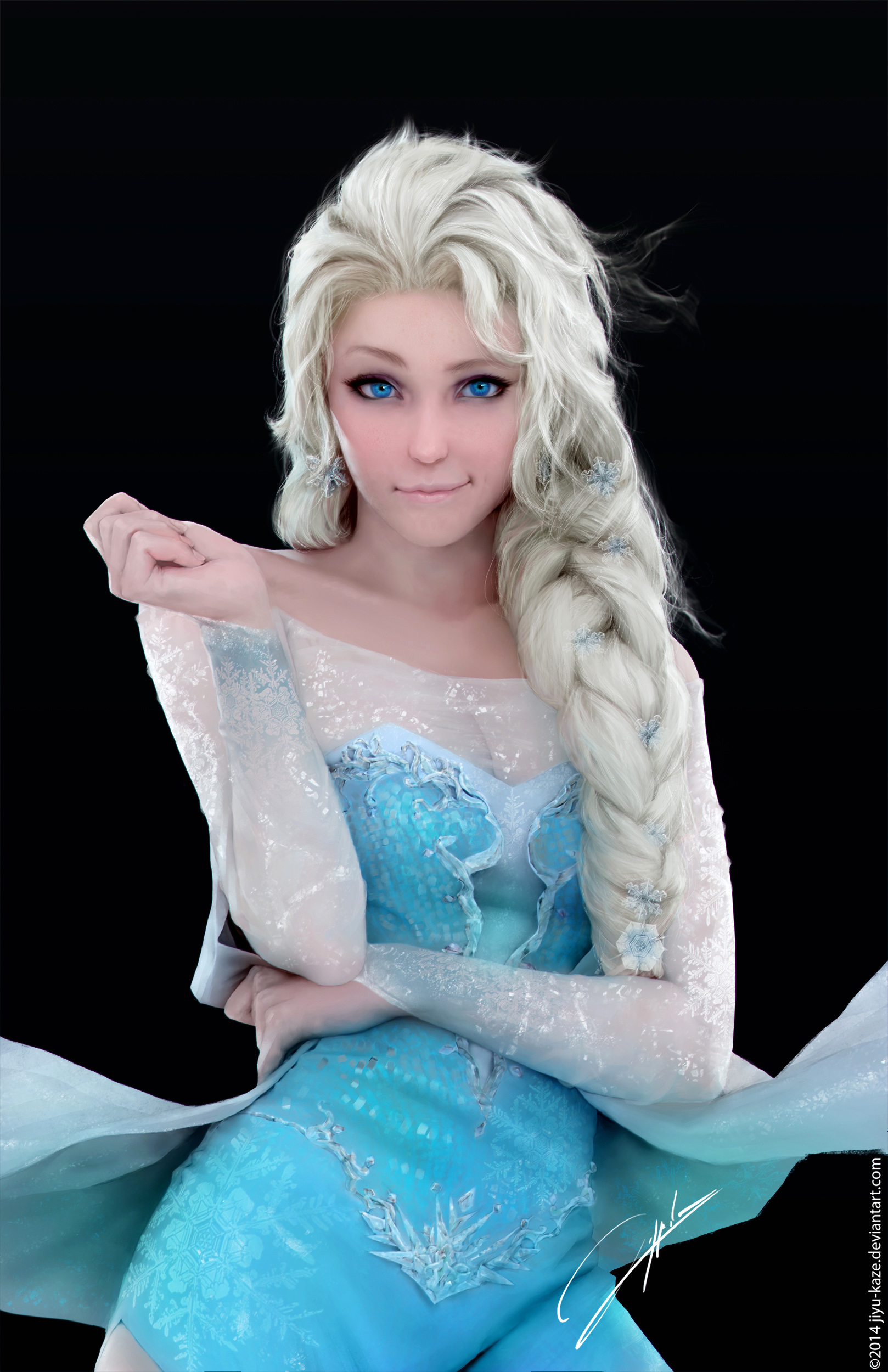 Elsa from Frozen by Jiyu Kaze | Powdered Wig Couture - 722 x 1080 jpeg 94kB